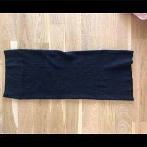 Zara Maternity Ribbed Black Knit Skirt M